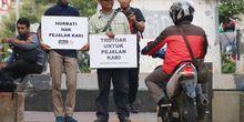 Upaya Kepolisian Lindungi Hak Pejalan Kaki di Trotoar