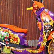 Honda Scoppy Berjubah Festival Banyuwangi