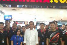 Presiden Jokowi di Pusat Komputer Mangga Dua