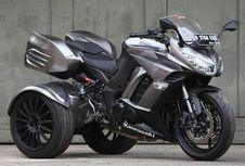 Kawasaki Z1000 'Berkaki Tiga' dari Kota Hujan