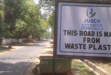 Cara India Atasi Kekumuhan Bangun Jalan dari Sampah Plastik