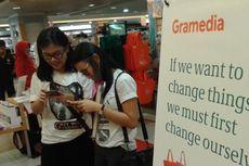 Masyarakat Antusias Suarakan Penghematan Kantong Plastik di Booth Gramedia