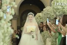 Sandra Dewi Kenakan Gaun Pengantin ala