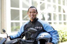 Biru Jadi Warna Atribut Uber Motor di Bandung