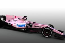 """Tim F1 Force India, Tampil Beda dengan Jubah """"Pink"""""""