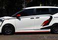 Toyota Sienta Beyond 1.0 garapan National Modificator & Aftermarket Association (NMAA). Postur bodi jadi lebih ceper dengan pemotongan ulir per sepanjang 3 cm.