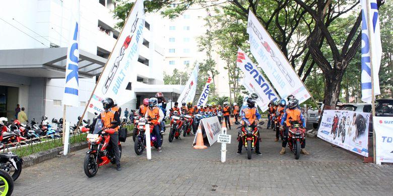 Diler utama Suzuki roda dua di Sulawesi, Sinar Galesong Mandiri, menggelar touring wisata menggunakan GSX 150 series pada 18 – 20 Agustus 2017 untuk merayakan ulang tahun ke-72 kemerdekaan Indonesia.