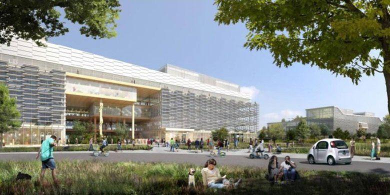 Ilustrasi calon kantor baru Google di Sunnyvale, California, Amerika Serikat.