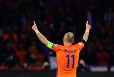 Arjen Robben Lewati Torehan Gol Dennis Bergkamp di Timnas Belanda