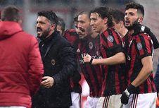 Gattuso Peluk Pemain Milan Setelah Raih Kemenangan Perdana