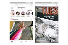 Instagram Stories Kini Bisa Ditonton dari Desktop