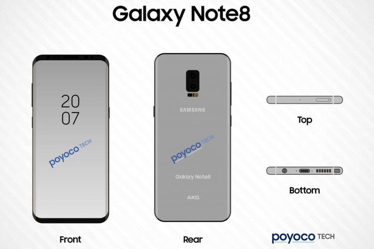 Bocoran foto Galaxy Note 8