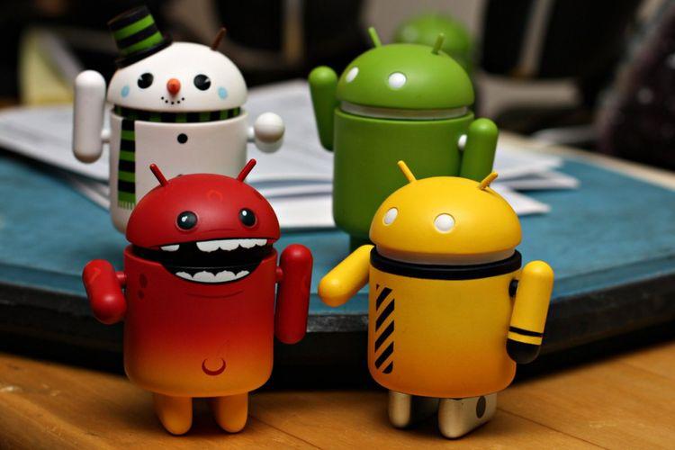 Ilustrasi malware di Android.