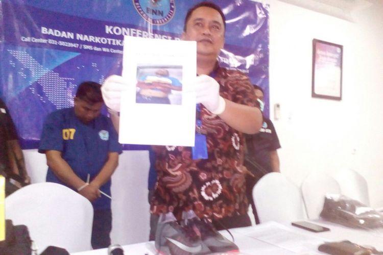 Foto bandar narkoba Sidoarjo saat dirawat di RS Bhayangkara Polda Jatim