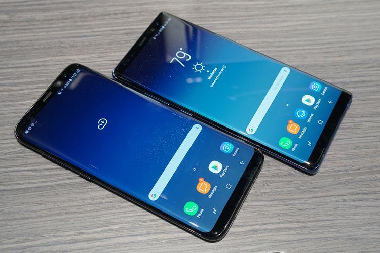 Galaxy Note 8 memiliki fitur layar Infinity Display, namun bagian sisinya tidak melengkung.