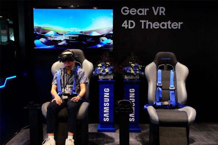 Gear VR 4D Theater di dalam Samsung Galaxy International Store