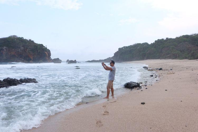 Pantai Jungwok di Gunungkidul, Yogyakarta.