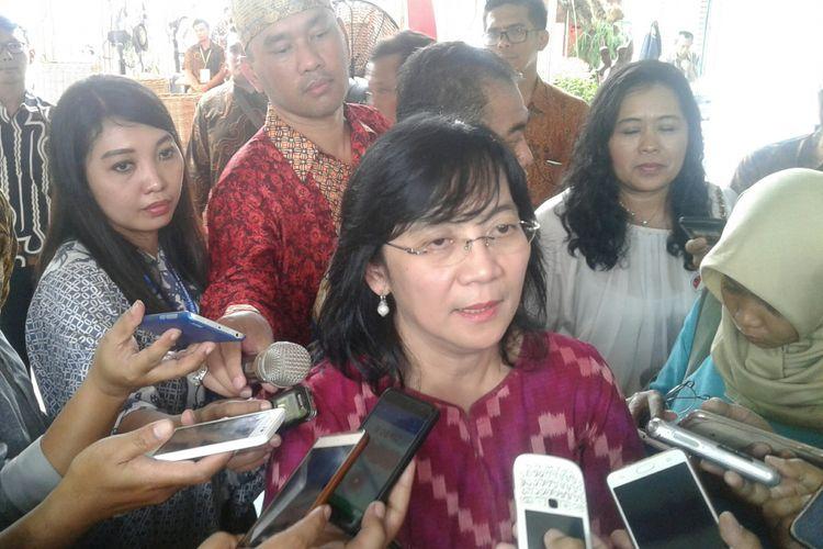 Direktur Jenderal Industri Kecil Menengah (IKM) Kemenparin, Gati Wibawaningsih di Solo, Senin (20/11/2017).