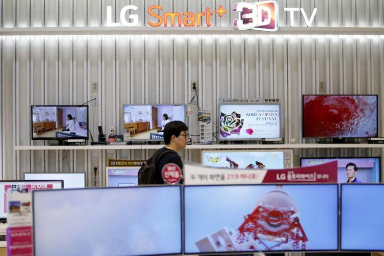 Ilustrasi toko TV LG
