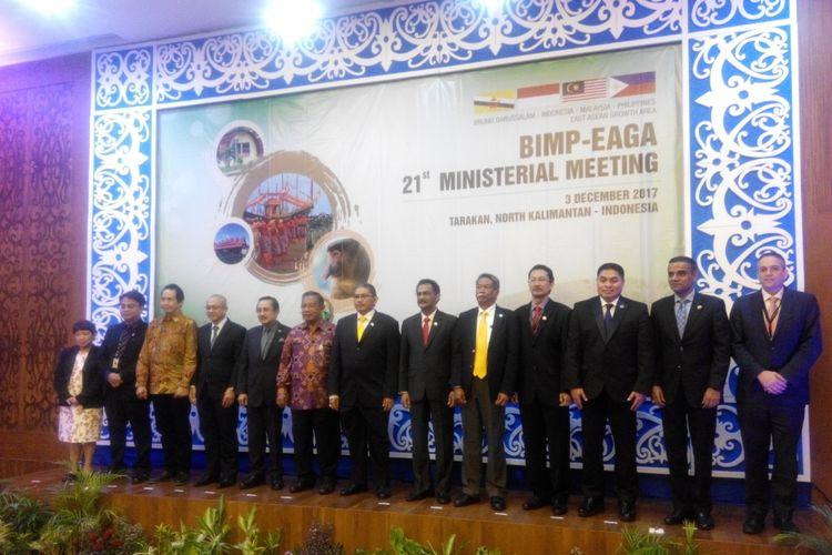 Pertemuan Tingkat Menteri Brunei Darussalam-Indonesia-Malaysia-Philippines East ASEAN Growth Area (BIMP-EAGA) di Tarakan, Kalimantan Utara, Minggu (3/12/2017).