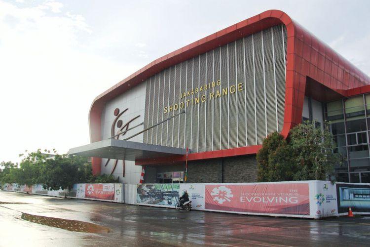 Venue shooting range di Jakabaring Sport City, Palembang.