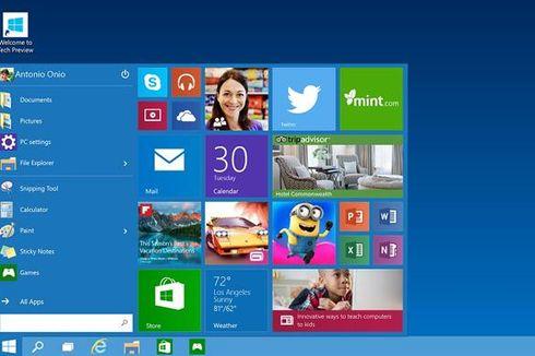 PC Windows 10 dengan