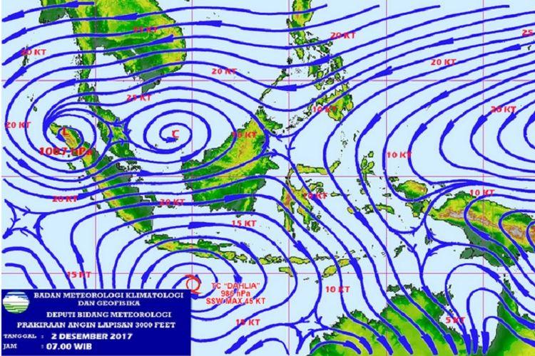 Bibit siklon tropis 97S dan 93W