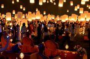 Sambut Tahun Baru di Borobudur dengan Doa dan Pelepasan 2.500 Lampion