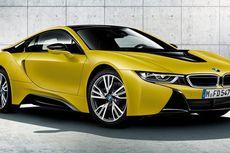 Ketika Mobil Listrik Futuristik BMWi Berjubah Kuning