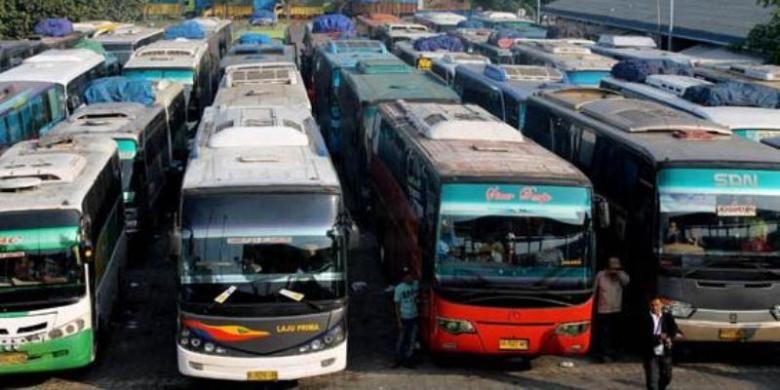 Ilustrasi bus antar kota.