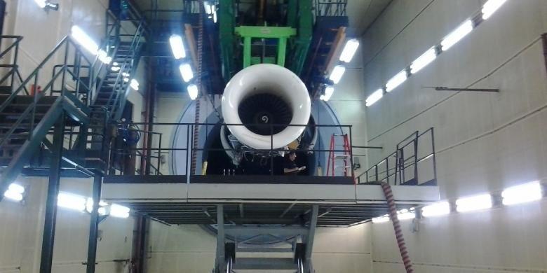 Mesin Pesawat Garuda Indonesia di Garuda Maintenance Facilities (GMF), Cengkareng