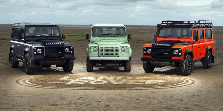 Tiga model edisi spesial Land Rover Defender, disiapkan untuk menutup produksi di 2015.