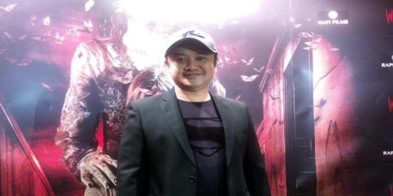 Rizal Mantovani diabadikan sesudah pemutaran film horor barunya, Wewe, khusus untuk para wartawan, di Epicentrum XXI, Kuningan, Jakarta Selatan, Senin (13/4/2015).