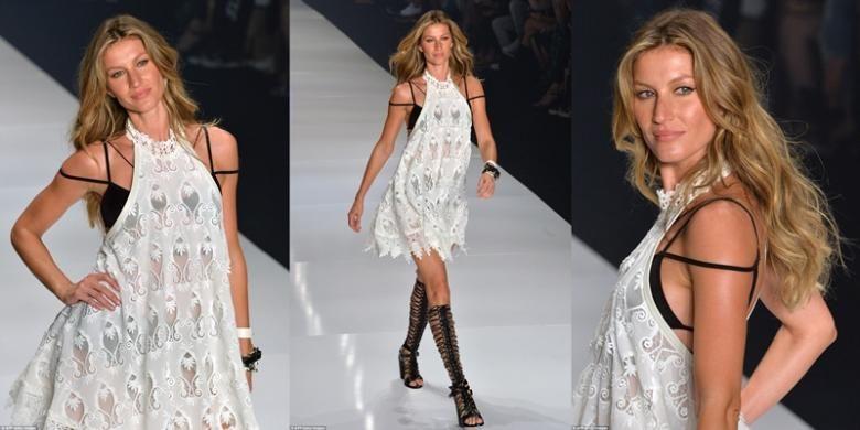 Gisele Bundchen mengakhiri perjalanannya sebagai model catwalk di acara Sao Paulo Fashion Week.