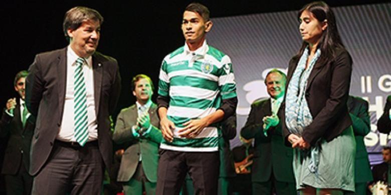 Martunis hadir pada saat acara ulang tahun ke-109 Sporting Lisbon, Rabu (1/7/2015).