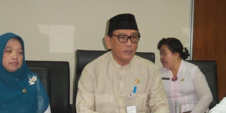 Wakil Kepala Dinas Pendidikan DKI Jakarta Sopan Andriyanto, di kantornya, Jumat (10/7/2015)