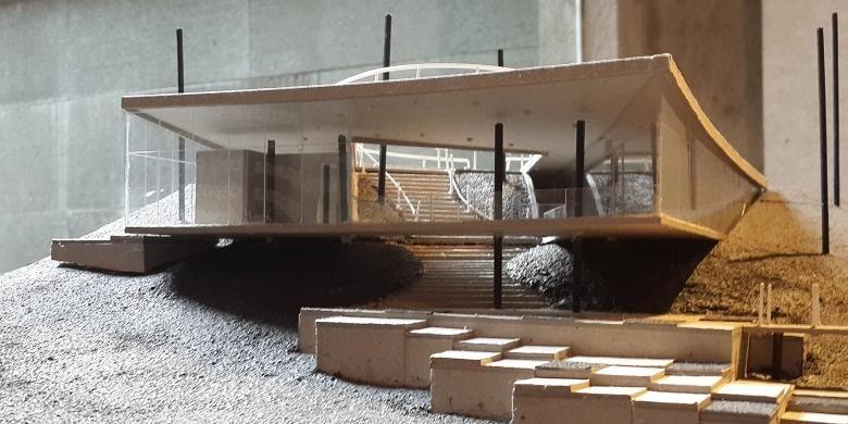 Dago Gallery, maket proyek arsitektur karya arsitek Wiyoga Nurdiansyah, Muhammad Sagitha, dan Muhammad Bagus Aditya yang turut dipamerkan di Segar