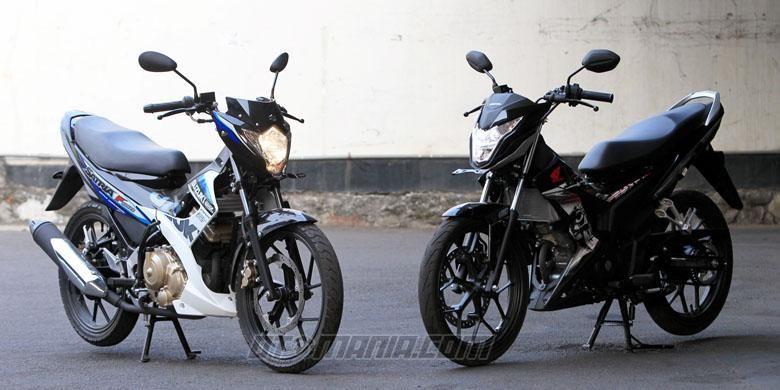 New Honda Sonic 150R dan Suzuki Satria FU 150 memiliki dimensi dan rupa yang hampir serupa.