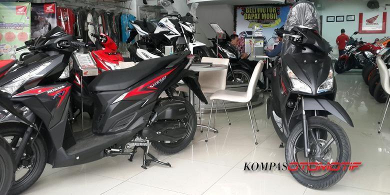 (Ilustrasi) Salah satu diler sepeda motor Honda di Jakarta.