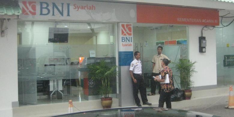 Gerai BNI Syariah di Kantor Kementerian Agama, Pejambon, Jakarta Pusat.