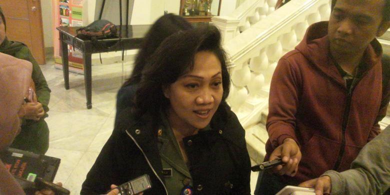 Ika Lestari Aji di Balai Kota, Senin (25/1/2016), saat menjabat Kepala Dinas Perumahan dan Gedung Pemerintahan DKI Jakarta.