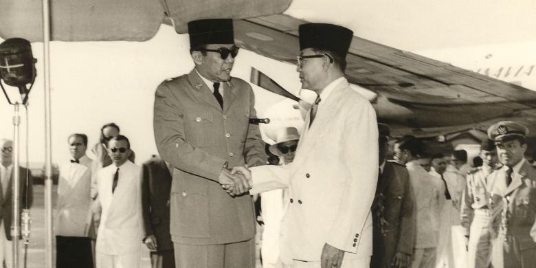 Presiden Soekarno dan Wakil Presiden Mohammad Hatta
