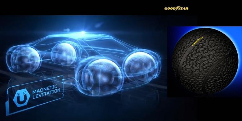 Goodyear Eagle-360, konsep ban masa depan untuk mobil otonomos.
