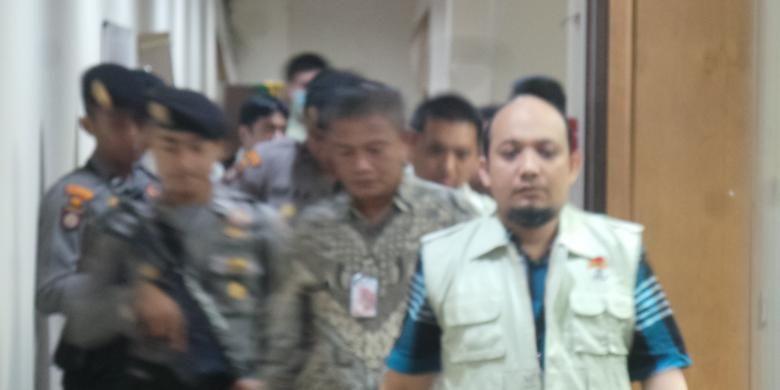 Penyidik KPK Novel Baswedan pimpin penggeledahan di Gedung DPRD DKI, Jalan Kebon Sirih, Jumat (1/4/2016).