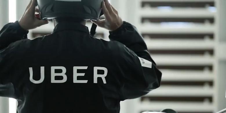 Uber Motor resmi diluncurkan Uber di Jakarta, Selasa (12/4/2016)