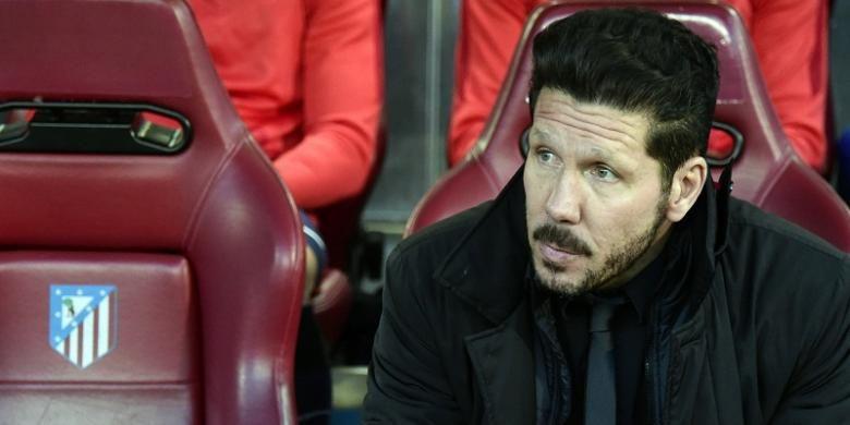 Pelatih Atletico Madrid, Diego Simeone.