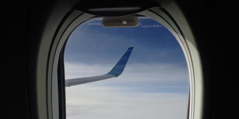 Jendela pesawat Garuda Indonesia. (Foto: Ilustrasi)