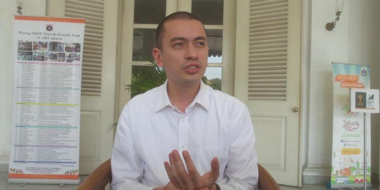 Rian Ernest, staf Gubernur DKI Jakarta Basuki Tjahaja Purnama saat ditemui di Balai Kota, Kamis (1/9/2016).