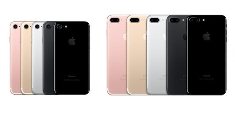 Pilihan warna iPhone 7 dan 7 Plus, (ki-ka) rose gold, gold, silver, black dan jet black