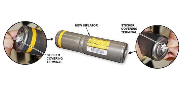 Airbag Inflator, komponen yang diganti dalam recall airbag Takata